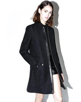 Jute Silk Tailored Trench Coat