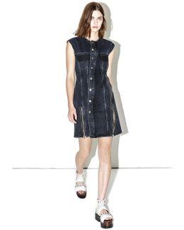 Asymmetric Denim Dress