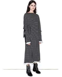 Side-tie Long-sleeve Dress