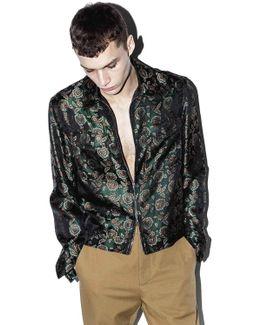 Floral Jacquard Bowler Jacket