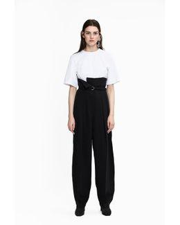 High-waist Fold-over Pant