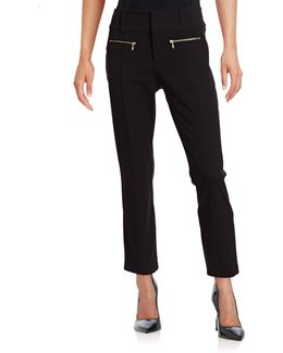 Cropped Zip Pocket Pants