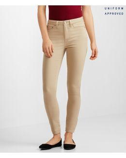 High-waisted Solid Uniform Jegging