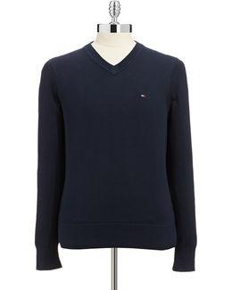 Signature V Neck Sweater