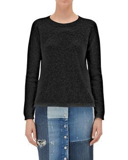 Sweater Black Mixed Fabrics