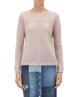 Sweater Dusty Rose Mixed Fabrics