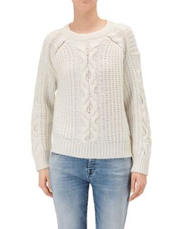 Cable Knit Ecrù Wool