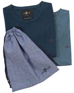 2 Pack T-shirts Light & Dark Blue