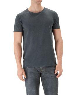 T-shirt Almost Black Slub