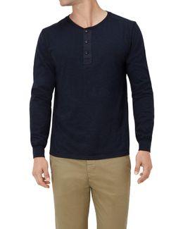 Serafino L/s T-shirt Jersey Slub Navy