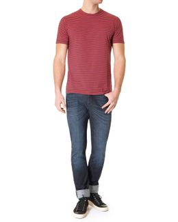 Striped Tee Navy/red