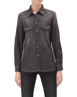 Western Shirt Unrolled Black