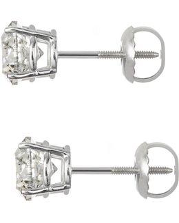 18k White Gold 1.50ct. Diamond Earrings
