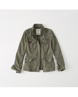 Military Twill Shirt Jacket