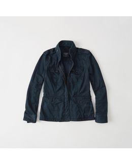 Twill Shirt Jacket