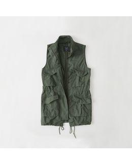 Long Military Vest