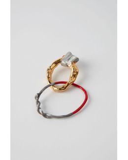 Alin gold/red/grey