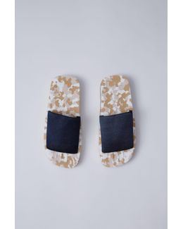Tania Elastic blue/beige