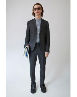 Brobyn Wool dark Grey Melange