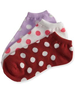 3-pack Big Dots Ankle Socks