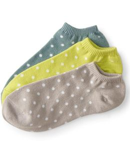 3-pack Small Dots Ankle Socks