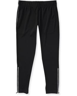 A87 Solid Ankle-zip Pants