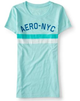 Aero-nyc Stripes Graphic T