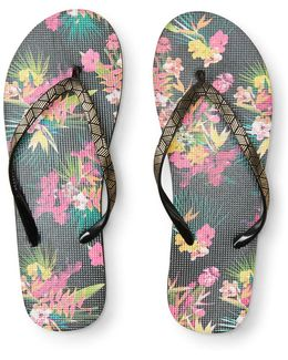 Bright Tropical Flip-flop