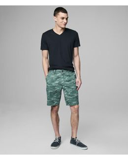 Camo Flat-front Shorts