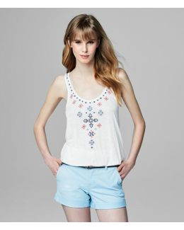 Cape Juby Embroidered Tank