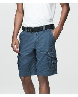 Cape Juby Solid Belted Cargo Shorts