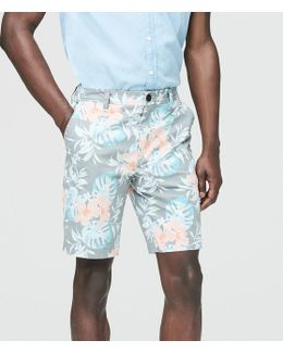 Dusty Floral Classic Reflex Flat-front Shorts