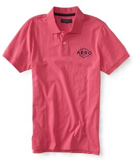 Embroidered Aero Jersey Polo
