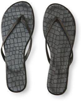 Faux Croc Flip-flop