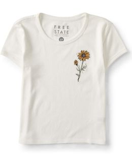 Flower Cropped Tee