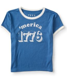 'merica 1776 Cropped Tee
