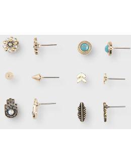 Hamsa Stud Earring 6-pack