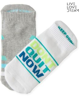 Lld 2-pack Don't Quit Now Performance Ankle Socks