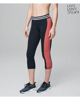 Lld Athletic Stripe Crop Leggings