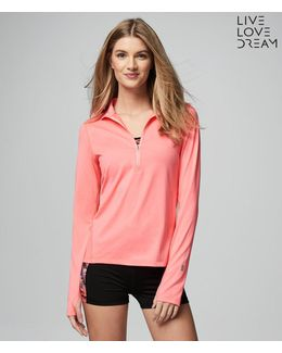 Lld Long Sleeve Live Love Run Half-zip Top