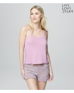 Lld Solid Cloud Fleece Sleep Tank