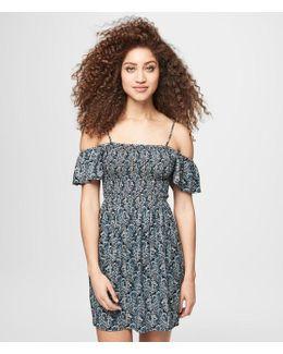 Paisley Cold Shoulder Dress