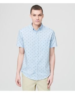Prince & Fox Embroidered Square Button Down