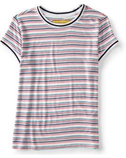 Prince & Fox Multi Stripe Ringer Tee