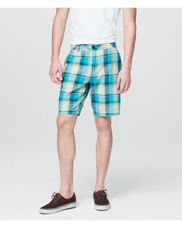 Prince & Fox Plaid Flat Front Shorts