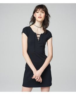 Prince & Fox Solid Lace Up Dress