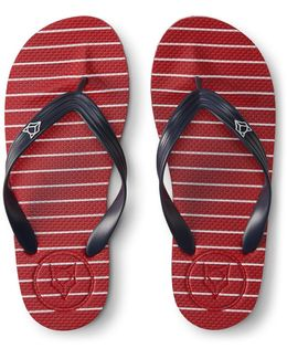 Prince & Fox Striped Flip Flop