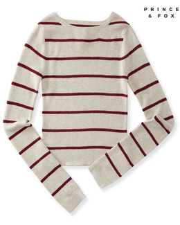 Prince & Fox Striped Crop Sweater