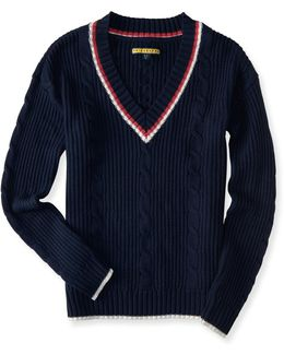 Prince & Fox Varsity V-neck Sweater