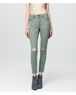 Seriously Stretchy Color Wash High-waisted Ankle Jegging